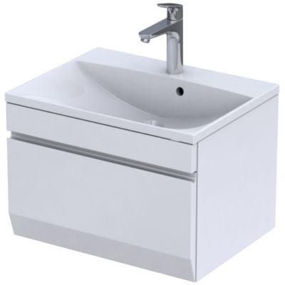 Zestaw Oristo Horyzont Amelia umywalka z szafką 60 cm biały/mat (OR37SD1S602, UMEAM6092)