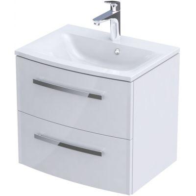 Zestaw Oristo Wave umywalka z szafką 60 cm biały/połysk (OR39SD2S601, UMEWA6092)
