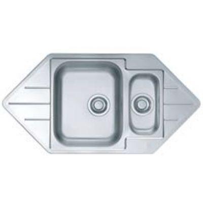 Alveus Line Start 40 zlewozmywak stalowy 99x50 cm wpuszczany 1.5-komorowy satyna 1082560