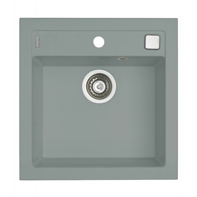 Alveus Formic 20 POP-UP zlewozmywak granitowy 52x51 cm 1-komorowy beton 4402081