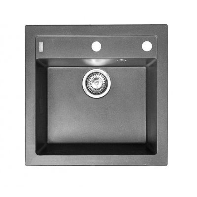 Alveus Formic zlewozmywak granitowy 52x51 cm 1-komorowy czarny 4402091