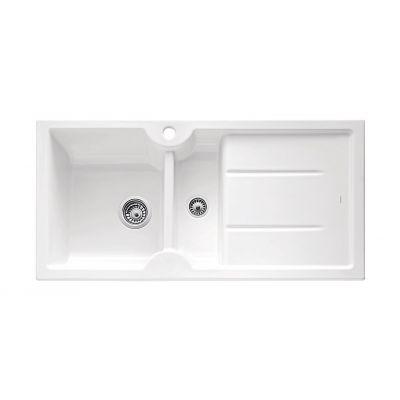 Blanco Idessa 6 S zlewozmywak 100x50 cm ceramiczny lewy biały połysk 516027