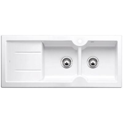 Blanco Idessa 8 S zlewozmywak ceramiczny 116x50 cm prawy biały połysk 516938