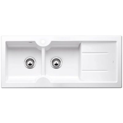 Blanco Idessa 8 S zlewozmywak ceramiczny 116x50 cm lewy biały połysk 516939