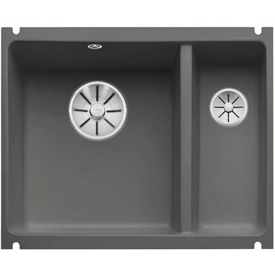 Blanco Subline 350/150-U zlewozmywak ceramiczny 56,7x45,6 cm PuraPlus lewy bazaltowy 523746