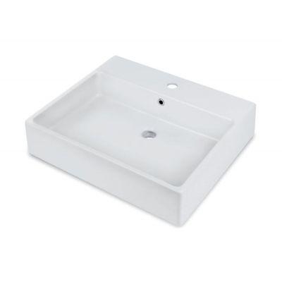 Deante Temisto umywalka nablatowa  60x50 cm prostokątna biała CDT6U6S