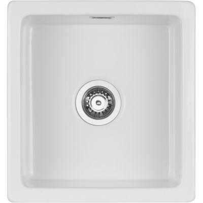 Deante Sabor zlewozmywak ceramiczny 45x47.8 cm biały ZCB6103