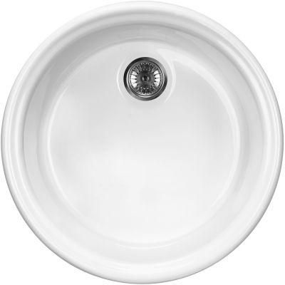 Deante Lusitano zlewozmywak ceramiczny okrągły 44,5 cm biały ZCL680N
