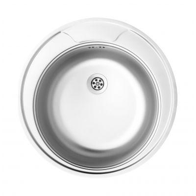 Deante Twist zlewozmywak stalowy 1-komorowy okrągły dekor ZEU3810