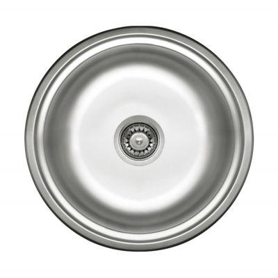 Deante Cornetto zlewozmywak stalowy 43,5 cm okrągły satyna ZHC0803