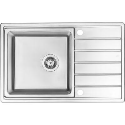 Deante Avior zlewozmywak stalowy 1-komorowy 78x50 cm satyna ZPA0113
