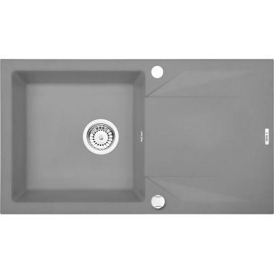 Deante Evora zlewozmywak granitowy 1-komorowy 78x44 cm szary metalik ZQJS113
