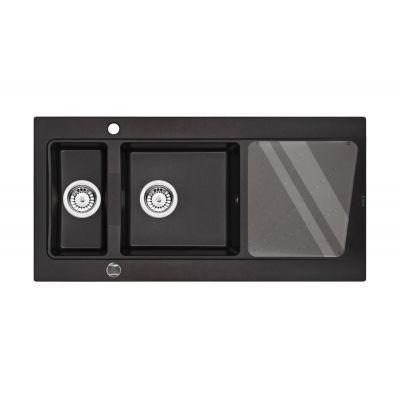 Deante Modern zlewozmywak granitowy 1,5-komorowy grafit metalik ZQMG513
