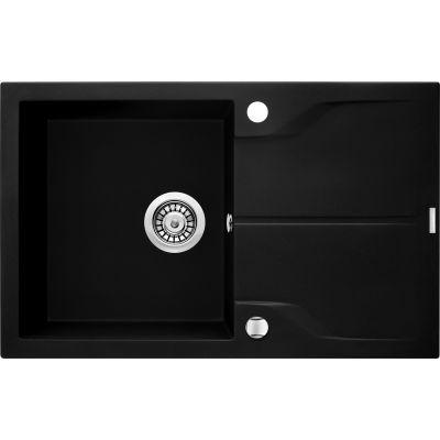 Deante Andante zlewozmywak granitowy 78x49 cm czarny mat ZQNN113