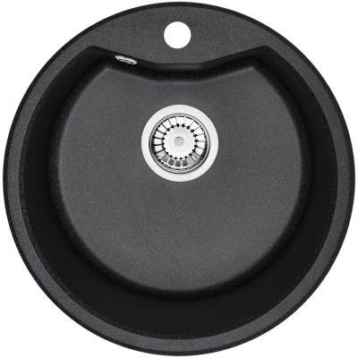 Deante Fiesta Solis zlewozmywak granitowy okrągły 48 cm grafitowy ZRS2803