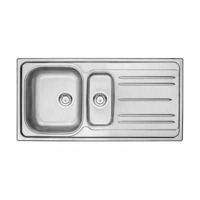 Deante Maredo zlewozmywak stalowy 1,5-komorowy 100x50 cm satyna ZYU0513