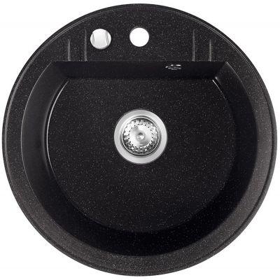 Ferro Mezzo II zlewozmywak granitowy 51 cm okrągły grafit shine DRGM1/51HA