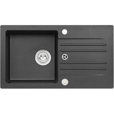 Genesis by Alveus Foxtrot 130 zlewozmywak 75x42 cm granitowy czarny 9603291