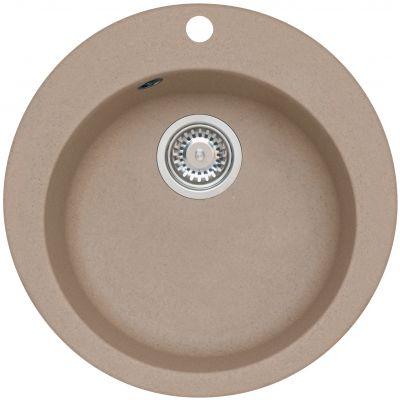 Genesis by Alveus Boogie 10 zlewozmywak 50,5 cm okrągły granitowy beż 9811055