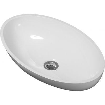Omnires Marble+ umywalka nablatowa biały połysk CreteBP