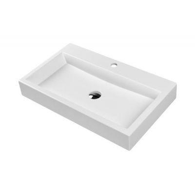 Omnires Marble+ Thasos umywalka nablatowa biały połysk THASOS700BP