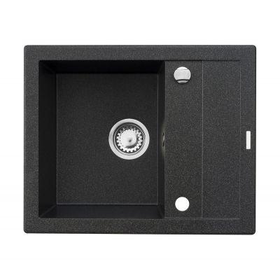 Pyramis Studio zlewozmywak granitowy 59x48 cm czarny 070000201