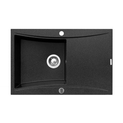 Pyramis Softline zlewozmywak granitowy 79x51 cm czarny 070001601