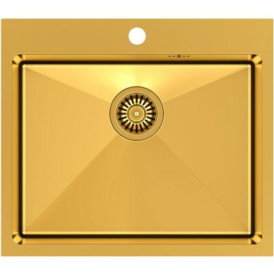 Quadron Russel 110 zlewozmywak stalowy 55x48 cm wpuszczany złoty HB7910PVDBSG1
