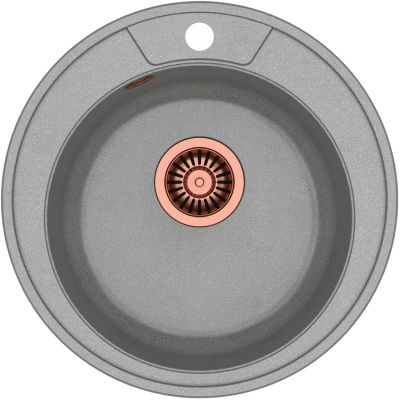 Quadron Danny 210 zlewozmywak 48,5 cm z GraniteQ wpuszczany szary metalik/miedziany HB8301U5-C1