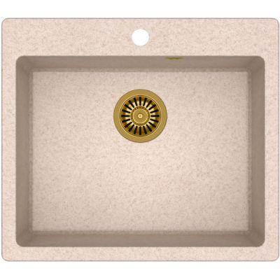 Quadron Morgan 110 zlewozmywak 57x50 cm z GraniteQ wpuszczany beżowy metalik/złoty HB8304U3-G1