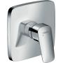 Zestaw Hansgrohe Logis bateria prysznicowa podtynkowa z kompletem natryskowym ściennym Croma i przyłączem FixFit chrom/biały (71605000, 01800180, 26582400, 26457000)