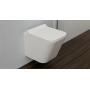 Omnires Fontana miska WC wisząca bez kołnierza z deską wolnoopadającą biała FONTANAMWBP