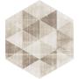 Paradyż Hexx dekoracja ścienna Universum Motyw Crema Heksagon 26x26 cm