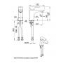 KFA Armatura Mokait bateria umywalkowa stojąca chrom 5532-815-00