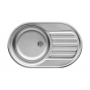 Pyramis SR Mini Flat zlewozmywak stalowy 76,5x48 cm len 100189701