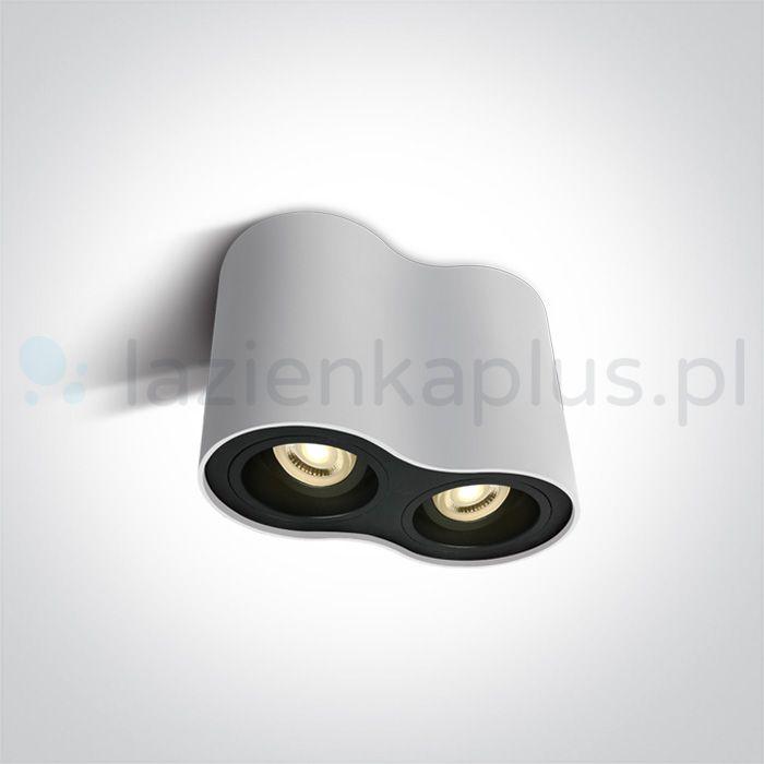 One Light Nemea lampa podsufitowa 2x10W biały/czarny 12205Y/W