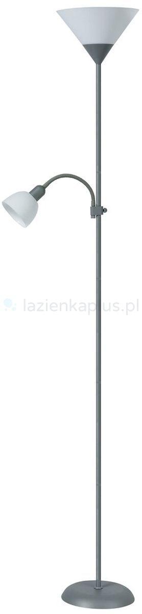 Rabalux Action lampa stojąca 1x100W/1x25W biała/srebrna 4028