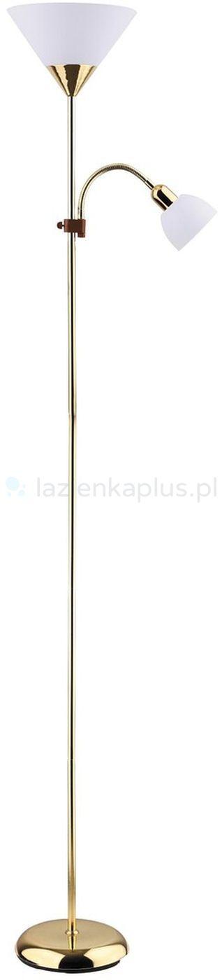 Rabalux Action lampa stojąca 100W/25W złota/biała 4060