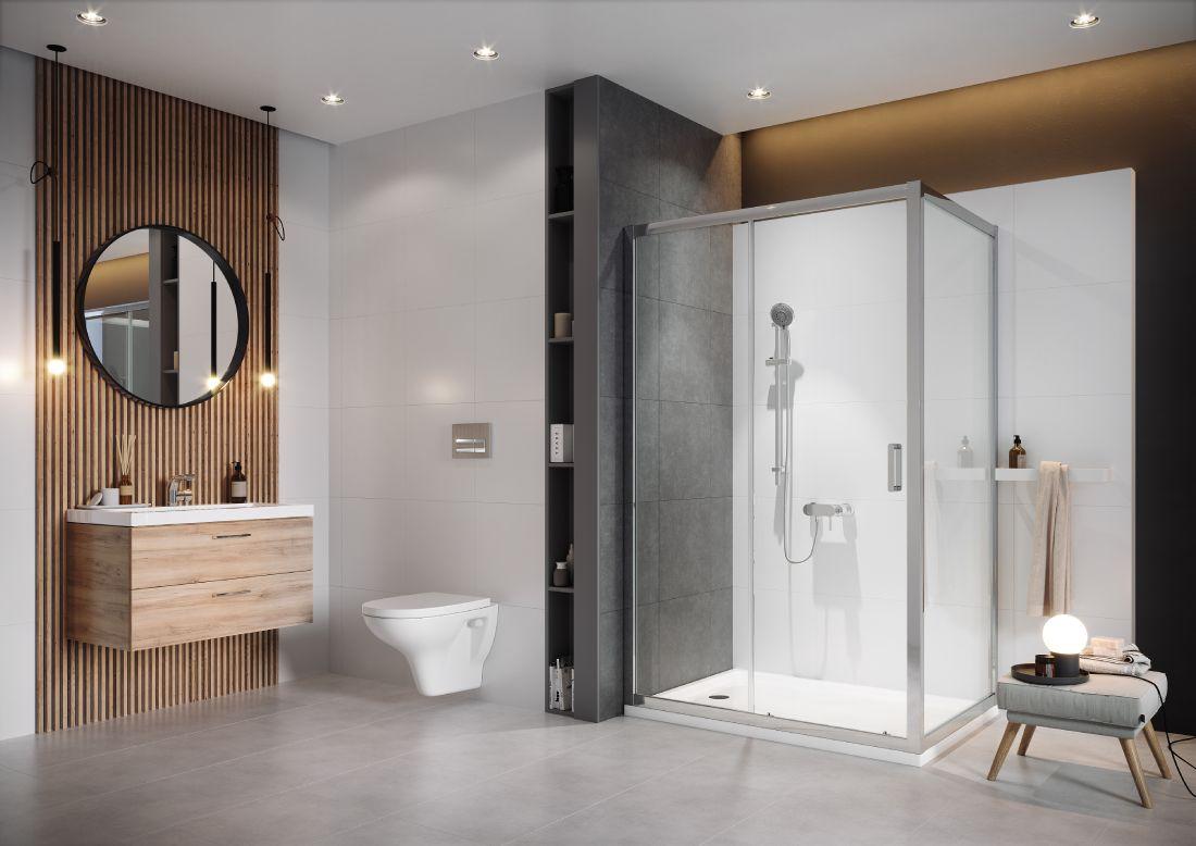 Cersanit Arteco kabina prysznicowa 100x80 cm chrom/szkło przezroczyste S157-011
