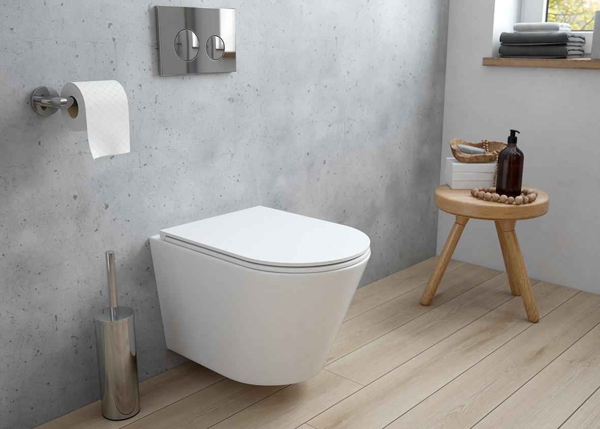 Zestaw Oltens Jog miska WC wisząca PureRim z deską wolnoopadającą Slim 42005000