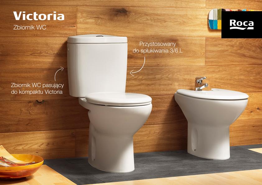 Roca Victoria zbiornik WC 3/6L do kompaktu WC biały A341392007