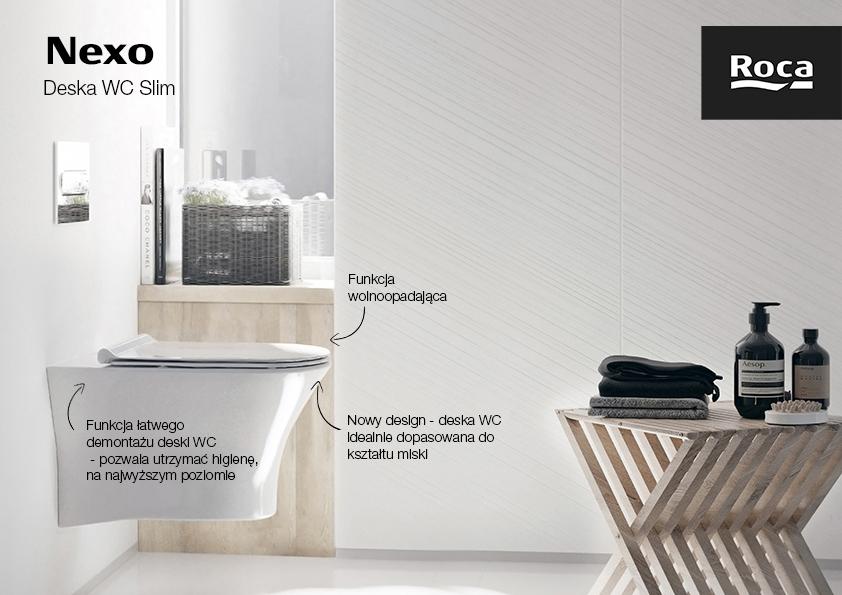 Roca Nexo Gap Round Meridian deska WC Slim wolnoopadająca duroplast biała A801C4200U