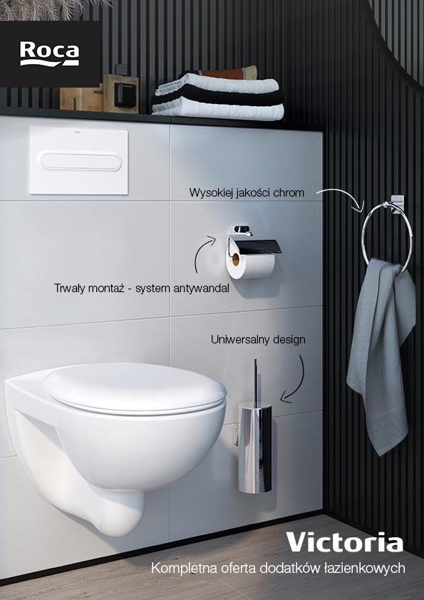 Roca Victoria szczotka toaletowa ścienna chrom A816666001